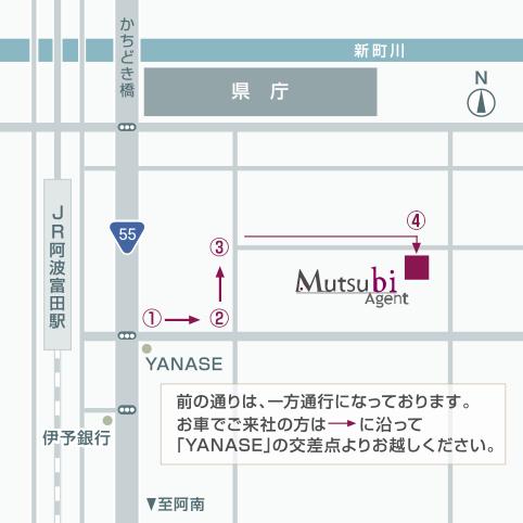 ムツビエージェント近郊地図
